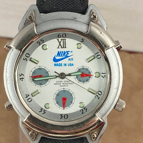 Nike Casual Sports Watch Date Black Leather Strap